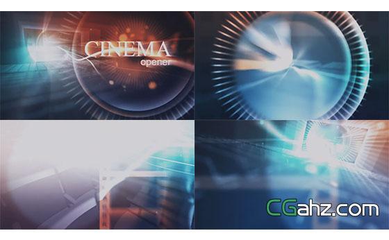 电影院光线开场展示AE模板