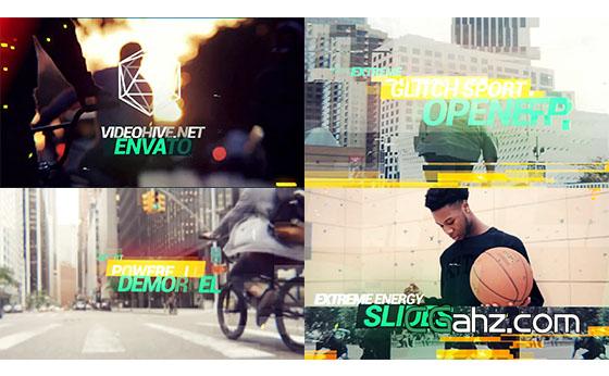 动感体育运动视频片头开场展示AE模板