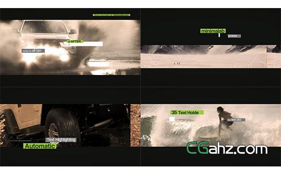 旅游运动路线视频开场片头展示AE模板