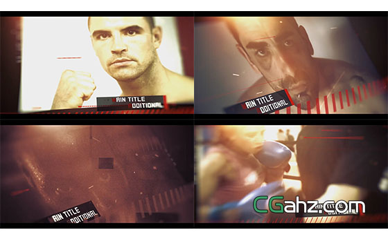 动感体育激情动作片宣传开场展示AE模板