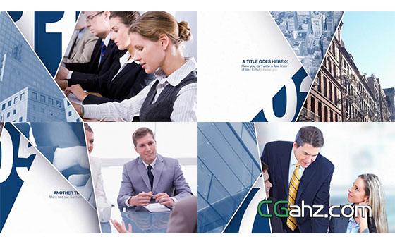 商业企业公司信息文化商品图片展示AE模板