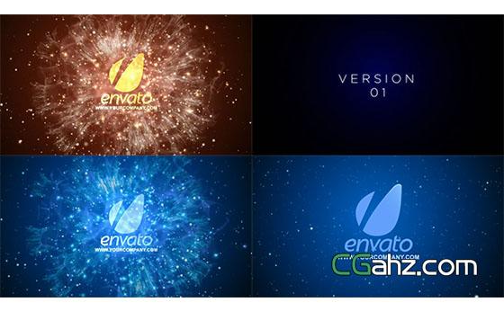 能量粒子爆炸Logo文字展示AE模板