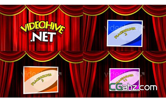 红幕舞台相声脱口秀搞笑卡通节目展