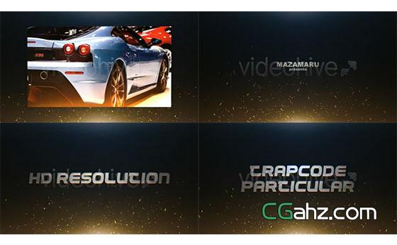 火焰粒子飘动游戏宣传片开场展示AE模板