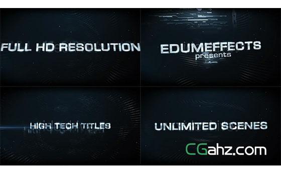 高科技文字标题展示AE模板