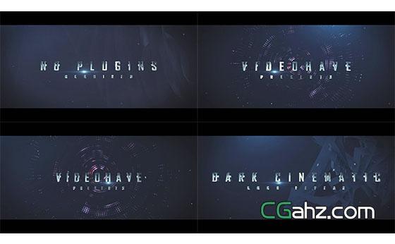 大气震撼3D文字游戏Logo片头开场展示AE模板