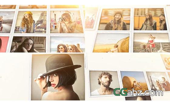 方形照片组合展示出温馨美好的回忆