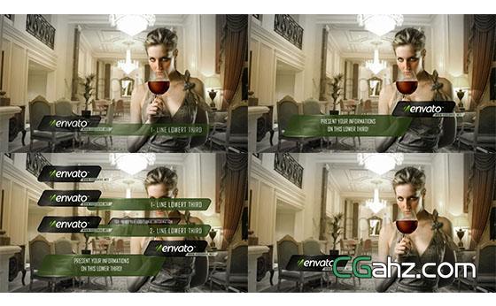 商务时尚人名字幕条展示AE模板