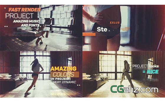 动感时尚舞蹈音乐个人秀展示AE模板