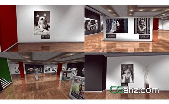 复古的照片画廊艺术展览AE模板