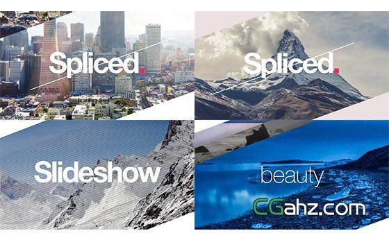 公司企业项目风景旅游照片幻灯片展示AE模板