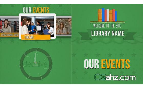 图书馆书籍书本介绍展示AE模板