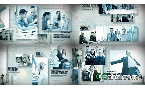 公司企业合作图片视频宣传片展示AE模板
