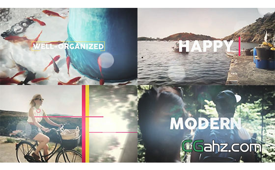小清新夏天旅游日记回忆视频展示AE