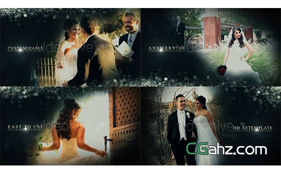 时尚粒子婚礼相册开场展示AE模板
