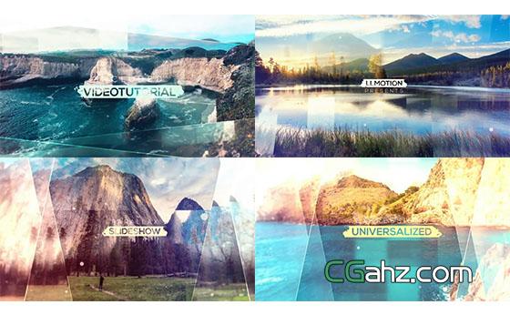 遮罩视差公司项目幻灯片开场片头展示AE模板