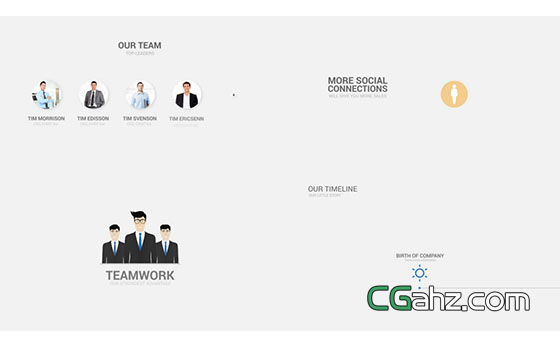 现代企业商务营销演示用的排版场景集AE模板