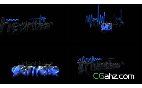 心电图动画和标志演绎特效AE模板