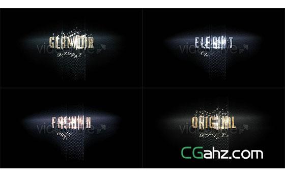 优雅时尚黄金文字Logo文字标题展示AE模板