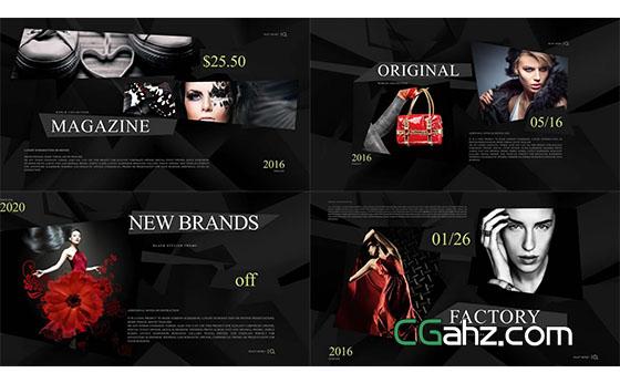 商务时尚网站排版商品介绍片头宣传片展示AE模板