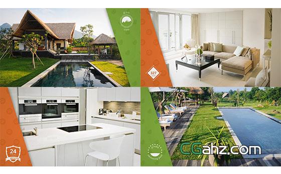 室内建筑简洁房地产幻灯片展示AE模板