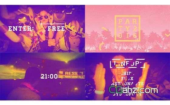 时尚动感活力音乐聚会宣传片展示AE