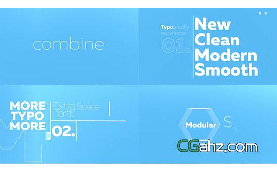 文字排版开场产品解说动画展示AE模板