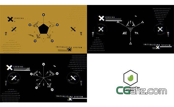 创意MG动画线条图形Logo展示AE模板
