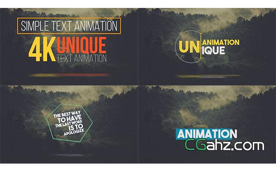 创意实用人名字幕条文字标题动画展示AE模板