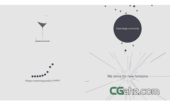 创意点线圆的演绎动画AE模板