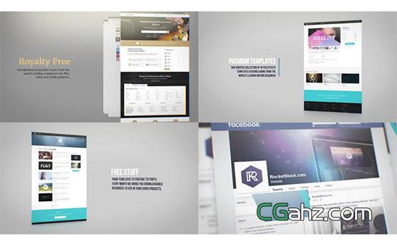 公司网站开发或网页设计的宣传演示