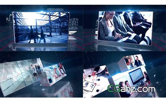 三维空间旋转拼接数据分析照片视频