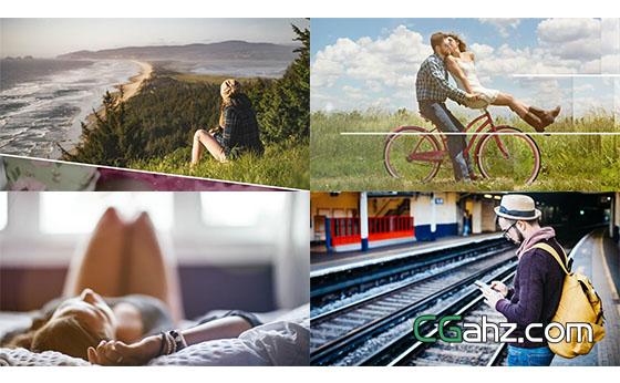 科技时间指针三维视差图片旅游宣传