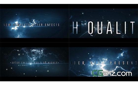 震撼宇宙太空标题文字开场展示AE模板