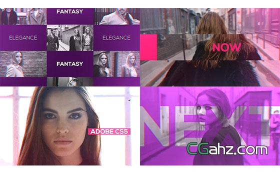 动感时尚魅力宣传片展示AE模板