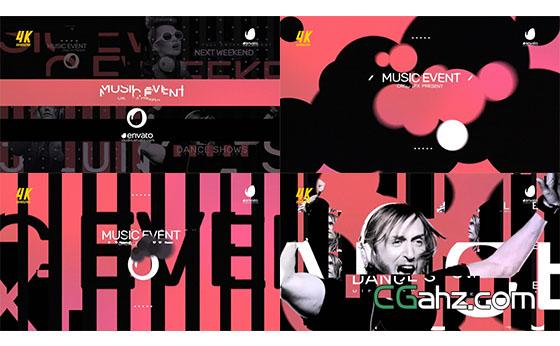 时尚音乐活动介绍片头展示AE模板