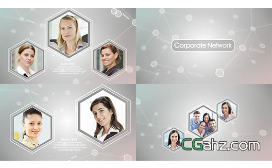 简洁公司发展脉络宣传展示AE模板