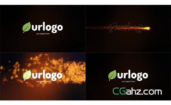 简短却震撼的火焰燃烧logo揭示开场AE模板