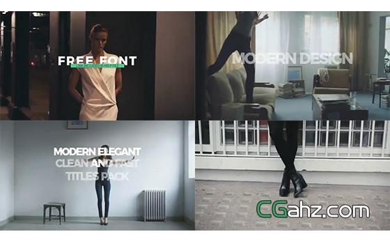 用于时尚杂志或商务包装的简洁快速排版标题AE模板