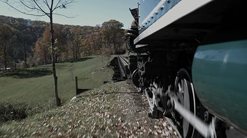 简短的火车行驶视频片段