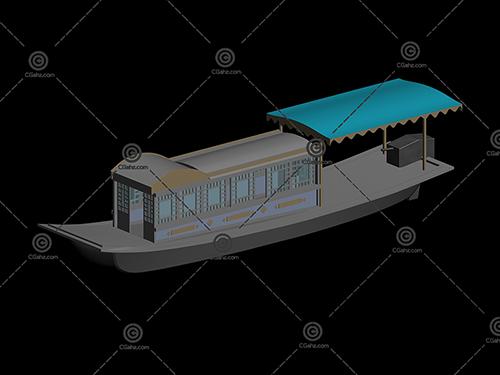 景区游船3D模型