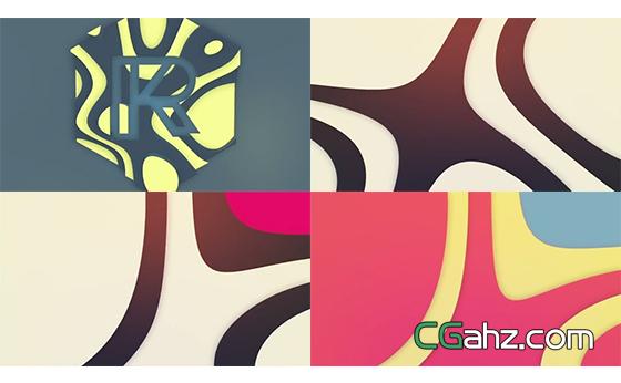 具有抽象艺术感的流线型图形logo揭