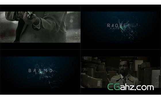 适合悬疑、惊悚类电影的宣传预告片AE模板