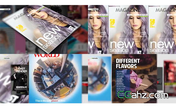 时尚杂志的活力宣传片AE模板