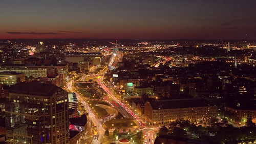 美丽的城市夜景视频素材