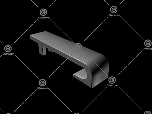 公共场所专用休息凳3D模型下载