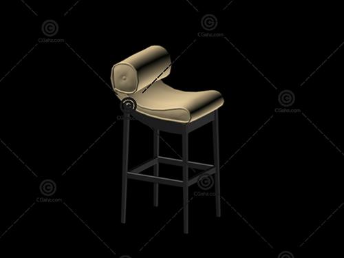 高脚椅3D模型免费下载