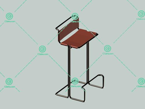 金属高脚椅3D模型下载
