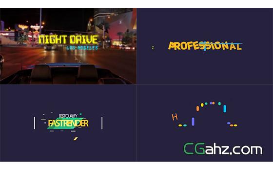 充满活力有弹性的文字标题动画设计AE模板