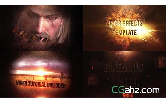 震撼火焰破碎爆炸的游戏/电影宣传